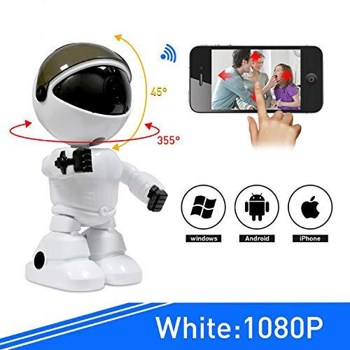 GYGUYHIHY HD Wireless IP Wi-Fi-Kamera 1080P Nachtsicht-Netzwerk CCTV Zwei-Wege-Audio Bewegungsalarm Kamera Einfache Wiedergabe Die SD-Karte Filmmaterial Baby Monitor & Home Security Robot Camera