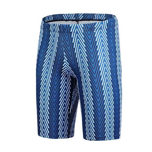 Xioker Boy Swim Jammers Quick Dry,Swimming Shorts for Boy UPF 50+ Youth Boys Swimwear Boxer(Blue,XS)