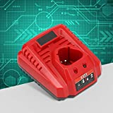 𝐂𝐡𝐫𝐢𝐬𝐭𝐦𝐚𝐬 𝐆𝐢𝐟𝐭 Reliable Charger 12.6V 3A Suitable Competibale with Milwaukee N12 Lithium Battery 100-240v,Safe(Black and red3)