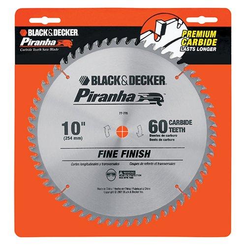 Black & Decker 77-770 Piranha 10-Inch 60 Tooth ATB Saw Blade with 5/8-Inch Arbor