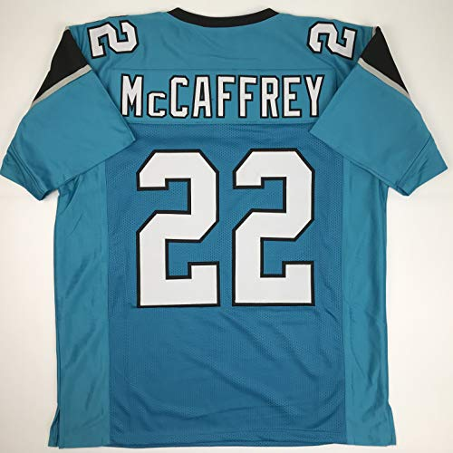 Unsigned Christian McCaffrey Carolina Blue Custom Stitched Football Jersey Size Men's XL New No Brands/Logos