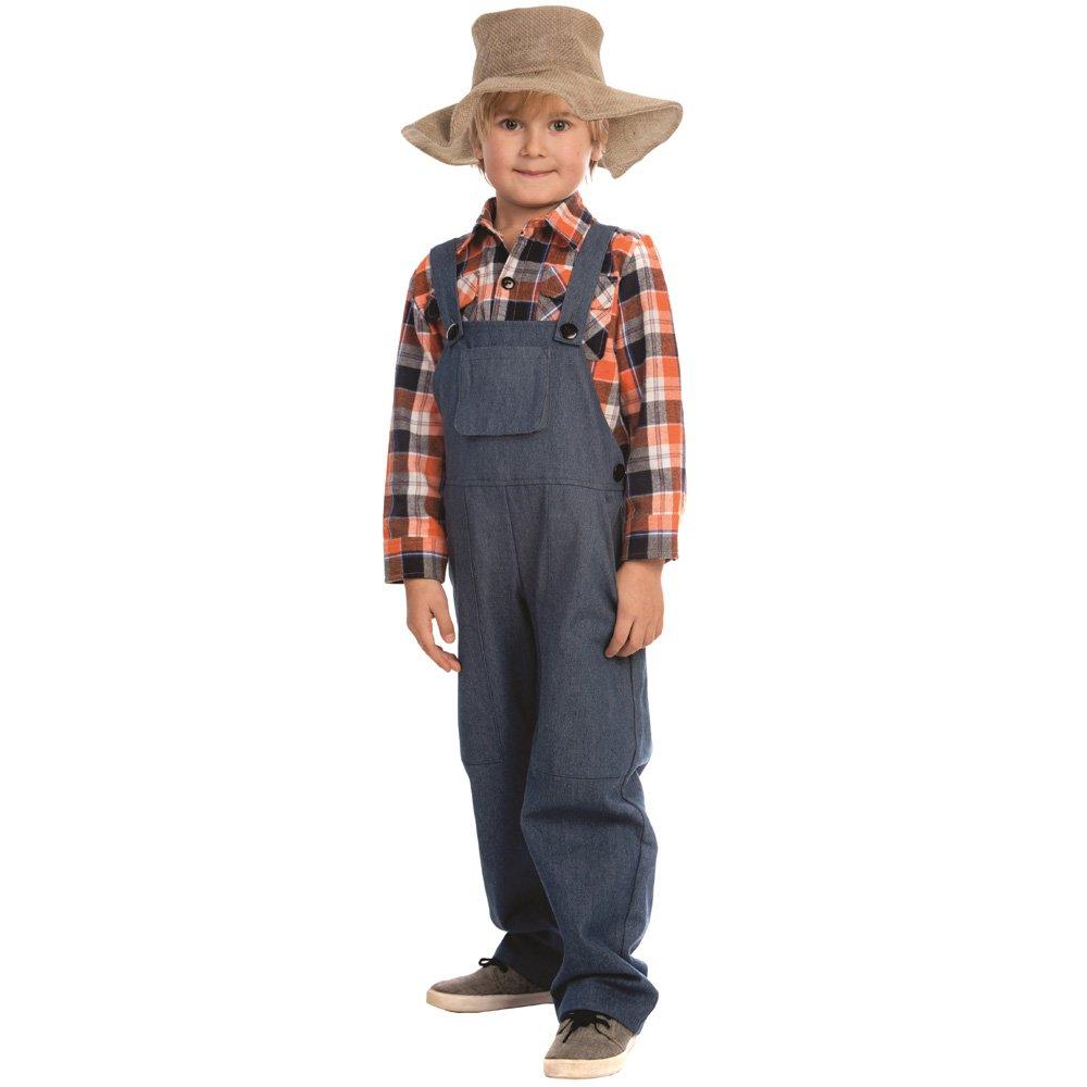 Dress up America - Disfraz de Granjero para niños,, Talla S, 4-6 años (840-S): Amazon.es: Juguetes y juegos