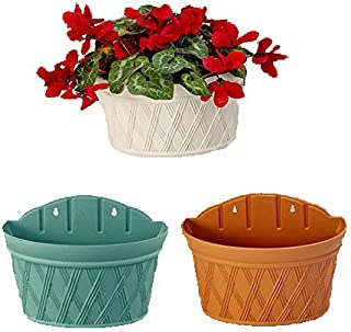 Candyqueen 1Pcs Wall-Mounted Planter Hanging Planter Flower Pot Plastic Planter Random Color