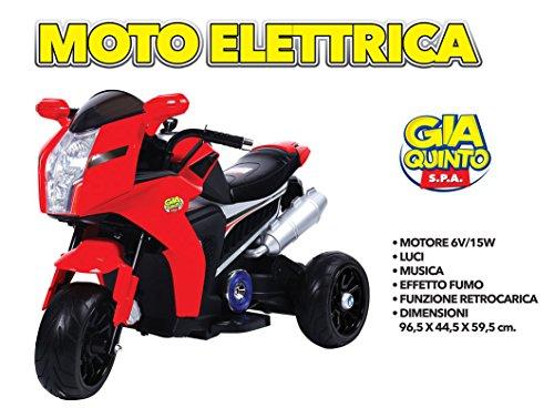 MOTO ELETTRICA ROSSO 6V GVC-5341