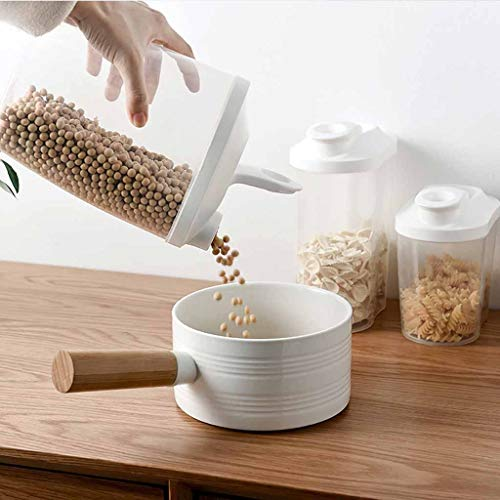 1 Big 1 Small Not To Be Missed Food Storage Box 2019top 2l Plastic Cereal Dispenser Storage Box Kitchen Food Grain Rice Container