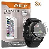 3X Protector de Pantalla para Garmin Fenix 5 / Fenix 5 Plus, Cristal Vidrio Templado Premium Reloj SmartWatch