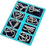 ILamourCar Brain Teasers Metal Wire Puzzle Toys, IQ Test Disentanglemen Unlock Interlock Game Chinese Ring Puzzle Brain Teasers for Kids Adults 8-Pack