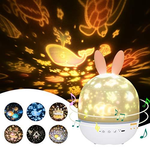 URAQT Veilleuse Enfant Lampe Etoile Projecteur,...