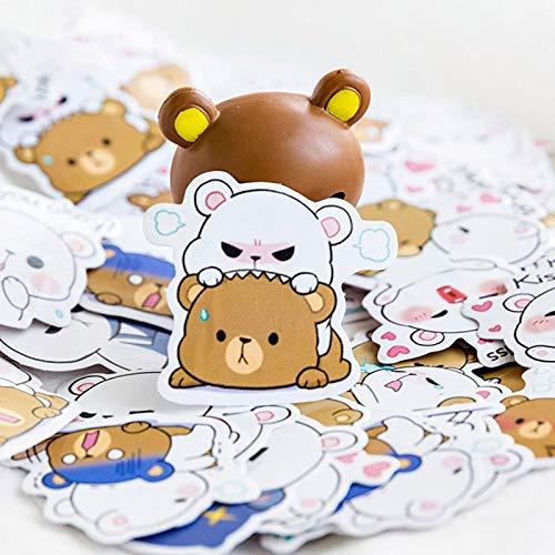 Schattige beerstickers Kawaii briefpapier stickers mooie cartoon-stickers voor decoratieve opschriften dagboek 45 stuks/doos