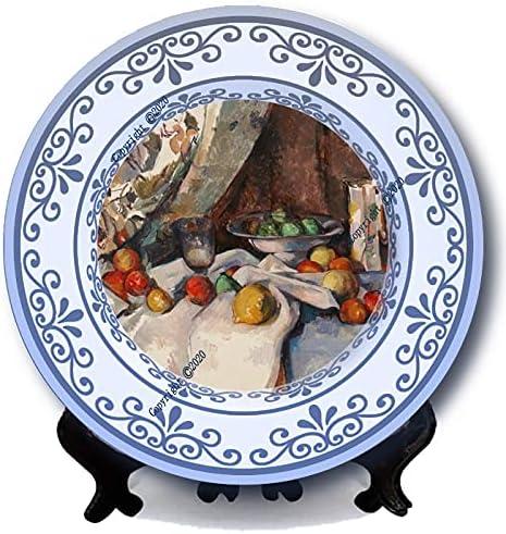 Still Life Apples Cezanne Painting Plates Al sold out. Bargain H Antique Decor