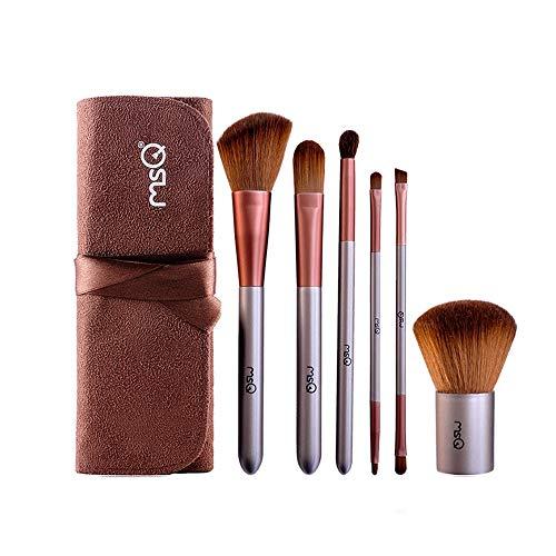 NCTM Maquillage Brown Brosse Ensembles Profession 6 Pièces Contour Brush délicat Débutant Voyage Pratique Gift Foundation Brush