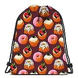 Wadestar Kordelzug Rucksack Cookie Kuchen leckeren Snack köstliche Schokolade hausgemachtes Gebäck Keks Yoga Runner Daypack Schuhbeutel 36 x 43 cm / 14,2 x 16,9 Zoll