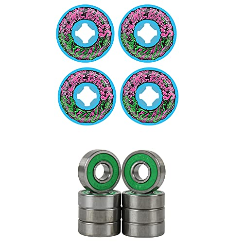 Slime Balls Skateboard Wheels 53mm Vomit Mini 97A Blue with ABEC 7 Bearings