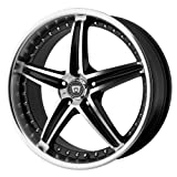 Motegi Racing MR107 Gloss Black Wheel With Machined Face (17x7.5'/5x114.3mm, +45mm offset)