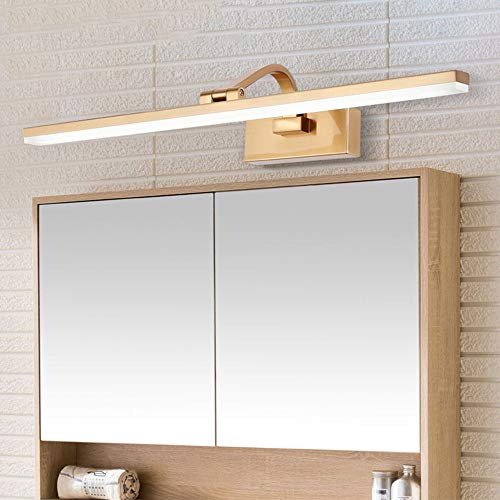 ZH-VBC Gold Vanity Lights, Bathroom Light Fixtures Over Mirror Brass Sconce Modern Light Fixture with Swivel Lamp Head, Makeup Light for Cabinets Dressing Table, Natural White,61cm