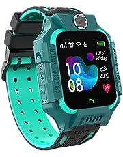 Smartwatch voor kinderen, IP67, waterdicht, anti-verloren LBS, voicechat-smartphone, SOS-wekker, smartwatch voor studenten voor wiskundegames, cadeaus voor jongens en meisjes (groen)