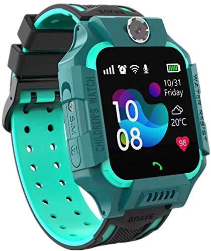 Smartwatch per bambini, IP67, impermeabile, GPS anti-perso, smart phone con chat vocale, sveglia SOS, orologio intelligente per studenti per giochi di matematica, regali per ragazzi e ragazze (verde)
