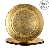 Argon Tableware Assiettes de présentation dorées à...