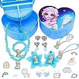 LLMZ Disney Frozen Joyas de niña 11pcs Reina congelada Conjunto joyas...
