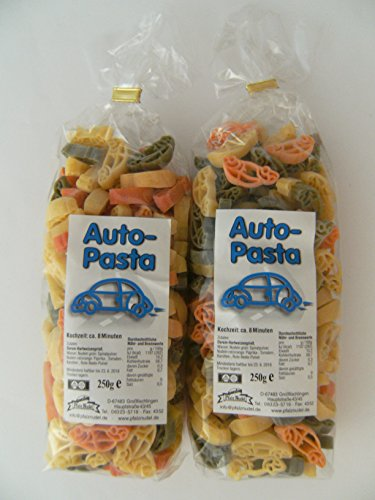 Pfalznudel Streuteile Autos aus Nudelteig, 2X 250 g, Nudeln, Pasta, Dekoration, Delikatesse Auto