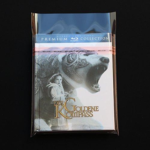 100 St. Blu-ray Mediabook Deluxe Schutzhüllen glasklar Bookshell 40 mµ mit Klappe und Verschluss
