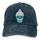 Gorra de béisbol ajustable con fragancia de hoja de loto, diseño de sombrero azul