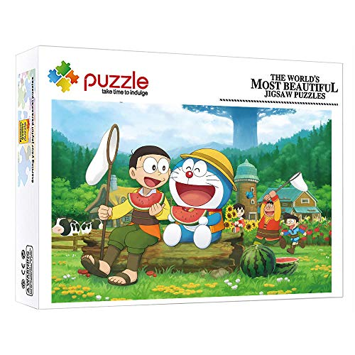 ZTCLXJ Puzzle Adulti 1000 Pezzi Cartoon Anime Doraemon 1000 Pezzi Puzzle per Bambini per Adulti Bambini Ad Alta Definizione per Sviluppare Hobby (38 × 26 Cm)