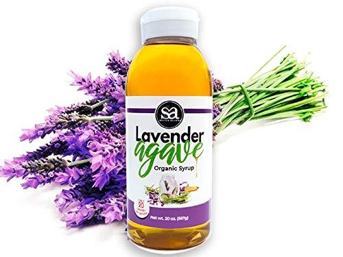 Soviia Organic Lavender Agave Syrup (Estate Grown Low-Glycemic Vegan Non-GMO, Nectar Kosher Halal)…