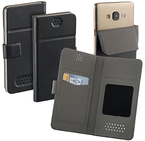 yayago Universal Haft Book Style Tasche für Kazam Life B6 Tasche mit Magnetverschluss Schwarz