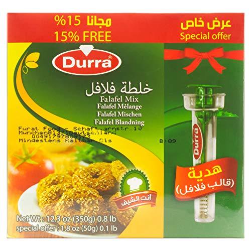 Durra - Falafel-Set: inkl. Portionierer - Vegan vegetarische Falafel Fertigmischung 2 x 175 g Packung