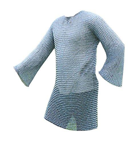 Kettenhemd, langarm, 9mm ID, verzinkt, Gr. XL von Battle-Merchant Mittelalter Wikinger LARP