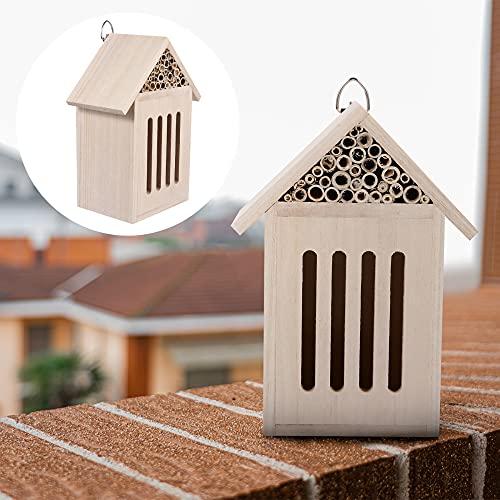 LvSenLin Bee Hive Hood House Hanging Insecto Hoteles para Ladybugs Bee Butterflies Beetle Garden Decoración Al Aire Libre