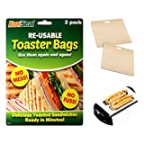 Deluxe 2 Pack of Reusable Toaster Bags - Non Stick Toastie Sandwich Maker Pocket Toast Bag by Lizzy®