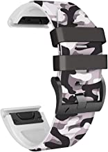 NotoCity Compatible with Fenix 5X Watch Band,Shallow Camouflage Silicone Bands Replacement for Fenix 5X/5X Plus/Fenix 6X/Fenix 6X Pro/Fenix 3/Fenix 3 HR/Descent MK1/D2 Delta PX/D2 Charlie (Grey)