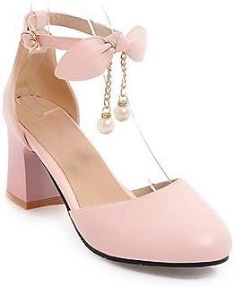 BalaMasa Womens ASL06553 Pu Block Heels