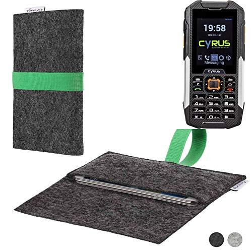 flat.design Handy Hülle Aveiro für Cyrus cm 16 passgenaue Filz Tasche Case Sleeve Made in Germany
