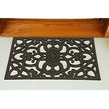 Iron Gate - Rubber Stud Doormat - Outdoor Mat 18  x 30  - Rugged Heavy Duty Vulcanized Rubber Construction - Recommended for outdoor use