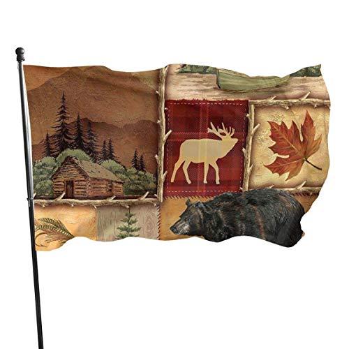 Dörfer im Freien und Flagge des Bärengartens, Demonstrationsflagge - 3 x 5 Fuß