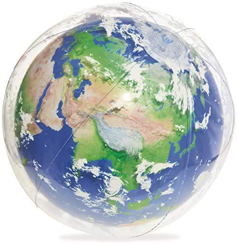 Bestway Wasserball Earth Glowball, mit LED-Licht, 61 cm