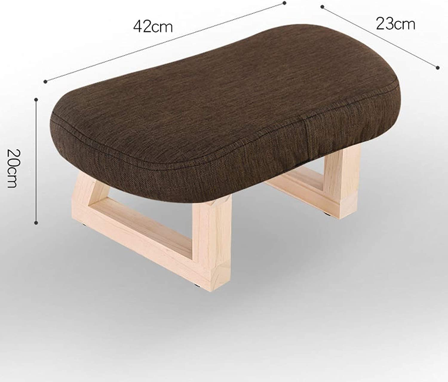 LLSDLS Solid Wood Stool Living Room Creative Retro Small Bench Home Adult Wear shoes Stool Sofa Change shoes Stool Fabric Stool (color   Brown)