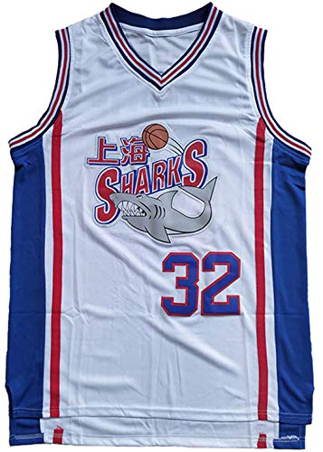 #32 Jimmer Fredette Shanghai Sharks Basketball Jersey Men White (White, X-Large)