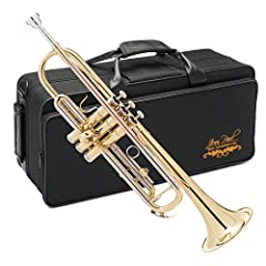 The Jean Paul Trumpet is in key of Bb Rose brass lead pipe Adjustable third trigger allowing for a natural hand position and proper playing technique Highly durable piston valve lengthening the life of the instrument while maximizing sound quality Be...