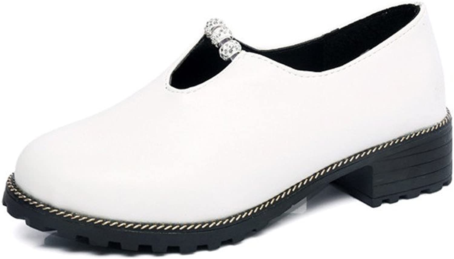 Spring Summer Autumn School of Korean Rhinestones Leisure Wind Thick-Soled shoes Foot Student Fashion shoes of England