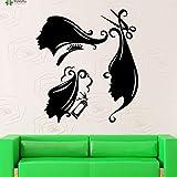 zqyjhkou Beauty Salon Applicable Wall Decal Beautiful Woman Hat Makeup Styling Silhouette Wall Stickers Vinyl Art Mural Girls77x86cm
