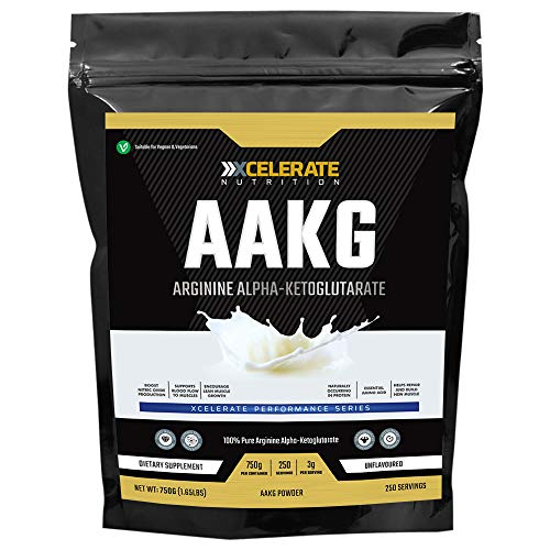 XCelerate Nutrition AAKG Arginine Alpha Ketoglutarate 750g Powder Pump Energy Nitric Oxide Cell Volumiser Powder