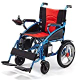 MJY Silla de ruedas eléctrica Sillas de ruedas eléctricas ligeras plegables - con batería de litio de 20 A, para personas mayores y discapacitadas Silla de ruedas inteligente automá