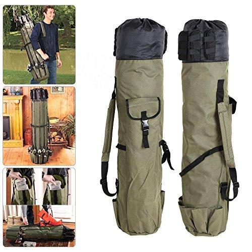 Aparejos de pesca Rod Holdall Bolsa Travel Reel Carry Case Pole Herramientas Bolsas de almacenamiento Engrosamiento Canvas (48.4inch)