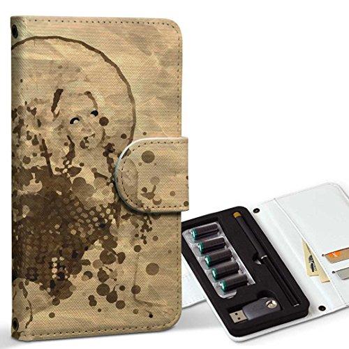 スマコレ ploom TECH プルームテック 専用 レザーケース 手帳型 タバコ ケース カバー 合皮 ケース カバー 収納 プルームケース デザイン 革 その他 人物 女性 インク ペンキ 007441