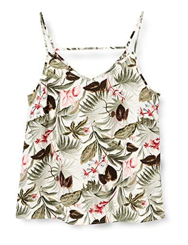 ONLY Damen Onlnova LUX Paris Singlet AOP WVN Trägershirt/Cami Shirt, Cloud Dancer, 38