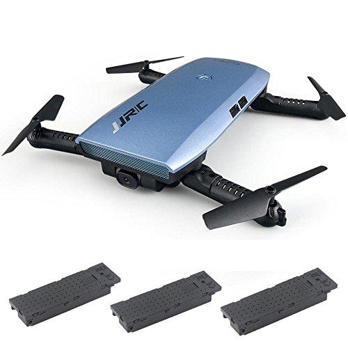 MMLC JJRC H47 Elfie Faltbare Selfie Mini Drone FPV Quadcopter und zwei zusätzliche Batterie (a)